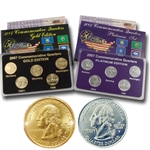 2007 Quarter Mania Precious Metal Set - Gold P / Plat D