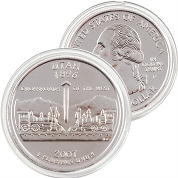 2007 Utah Platinum Quarter - Philadelphia Mint