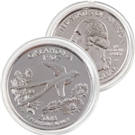 2008 Oklahoma Platinum Quarter - Denver Mint