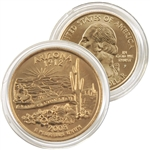2008 Arizona 24 Karat Gold Quarter - Philadelphia