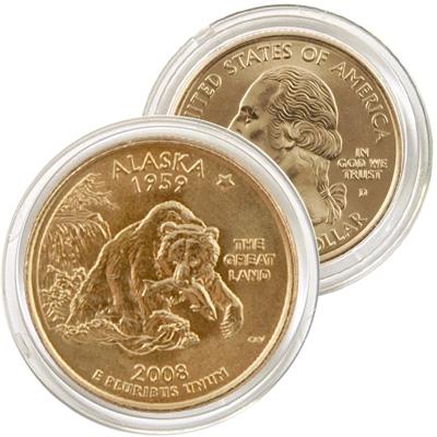 2008 Alaska 24 Karat Gold quarter - Denver