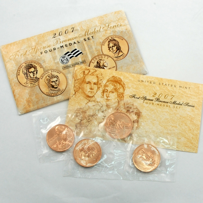 2007 First Spouse Bronze Medal Series Four-Medal Set