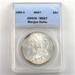 1882 Morgan Silver Dollar San Francisco - Certified 67