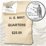 2008 Hawaii $25 Government Bag Denver Mint Quarters – Uncirculated