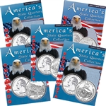 2006 Set of 5 State Quarter Albums