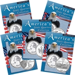 2007 Set of 5 State Quarter Albums