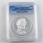 2009 Lincoln Commemorative Silver Dollar - PROOF - Certified 70