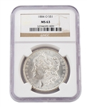 1884 Morgan Dollar - New Orleans - Certified 63