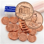 2009 Lincoln Cent Bicentennial Birth & Early Childhood (Log Cabin) - Philadelphia Mint Roll