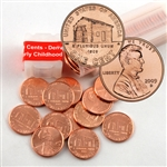 2009 Lincoln Cent Bicentennial Birth & Early Childhood (Log Cabin) - Denver Mint Roll