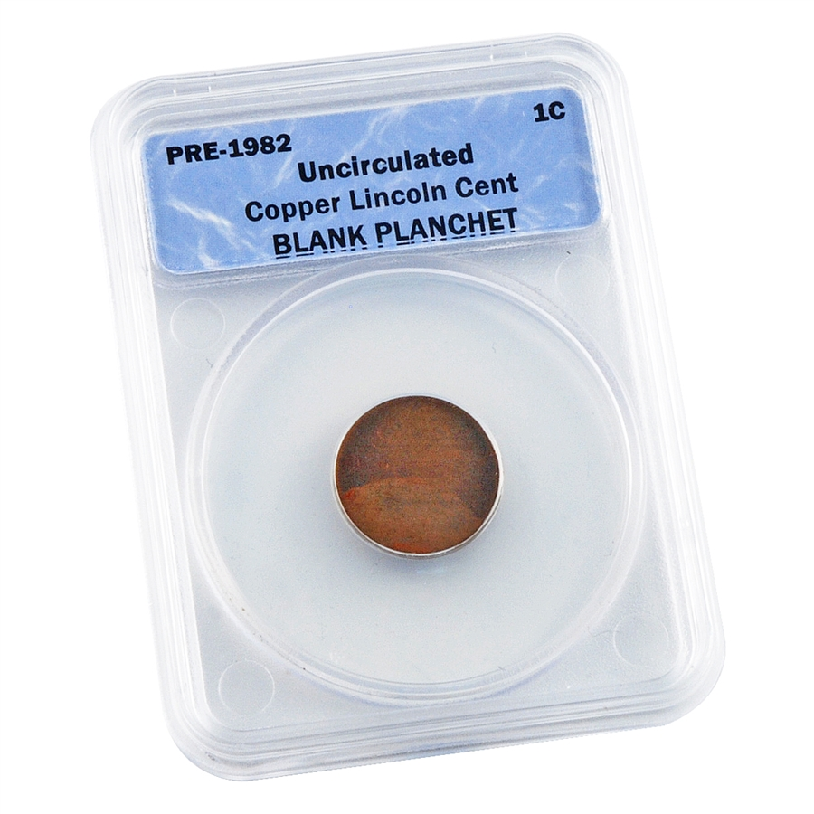 Lincoln Cent - Copper - Blank Planchet - Certified