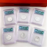 2009 Territories Quarter Proof Set - SILVER - Certified 70