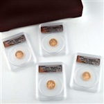 2009 Lincoln 4 coin Proof Set - Certified 70 - Wooden Box