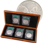 1st 5 Years of the Millenium Silver Eagles 2000 - 2004 ICG CT69