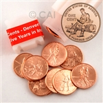 2009 Lincoln Cent - Formative Years (Rail Splitter) - Denver Mint Roll