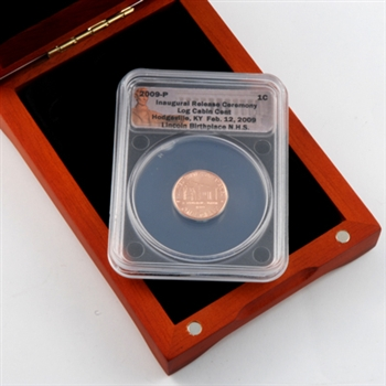 2009 Lincoln Cent - Birth & Early Childhood (Log Cabin) - Certified - Release Ceremony