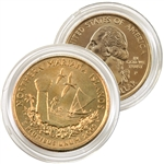 2009 Mariana Islands 24 Karat Gold quarter - Philadelphia