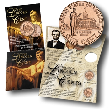 2009 Lincoln Cent - Presidency in Washington - P/D Gift Pack