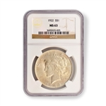 1922 Peace Dollar Certified MS63