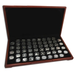 1999 to 2009 Complete 56 State Quarter Collection - SILVER PROOF