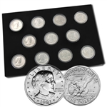 Susan B Anthony Collection 1979 - 81 & 99 - Unc - 11 coin set