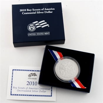 2010 Boy Scouts Commemorative Uncirculated Silver Dollar