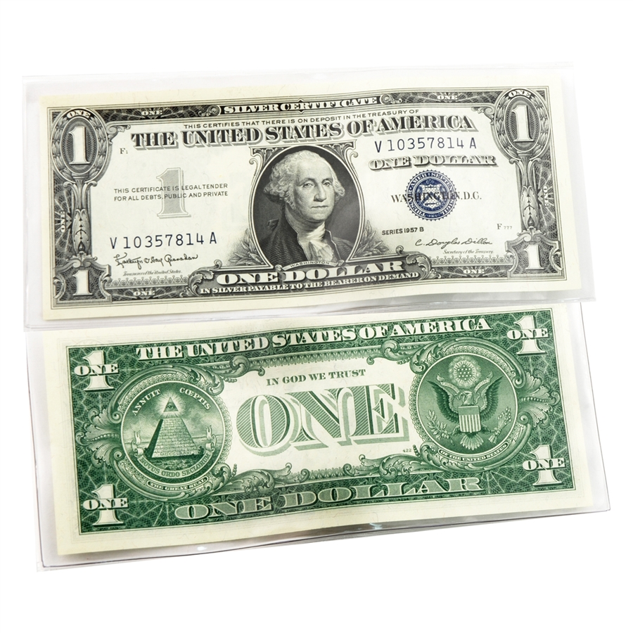Last 1 Silver Certificate 1957 Uncirculated Qty 10