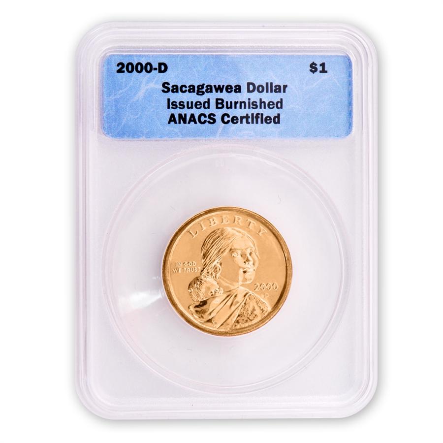 2000 Sacagawea Dollar Burnished Finish Certified Anacs