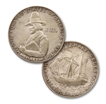 1920 Pilgrim Tercentenary Silver Half Dollar - Circulated