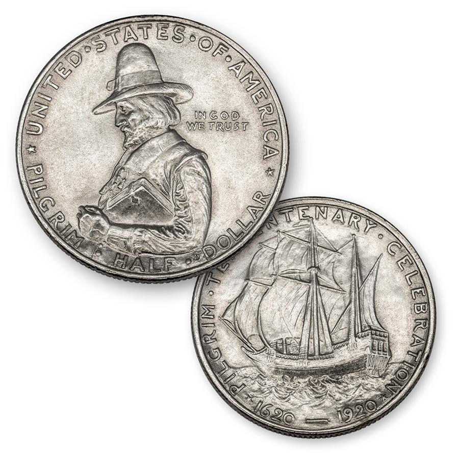 Silver Real Time Quote: 1920 Pilgrim Tercentenary Silver Commemorative Half Dollar