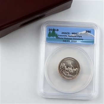 2010 Yosemite National Park Quarter - Ceremony Release