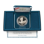 1999 Yellowstone Silver Dollar - Proof