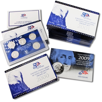 The Complete United States Proof Set Quarter Lens Collection