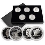 Secret Silver Proof Eisenhower Dollars - 5 pc