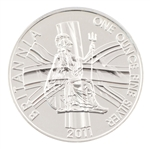 2011 Britannia Silver 1oz Union Jack - Uncirculated