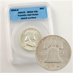 Franklin Half Dollar  - Full Bell Line Certified MS64