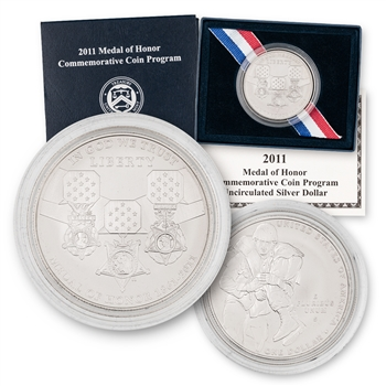 2011 Medal Of Honor Silver Dollar - Uncirculated