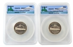 2010 Mt. Hood National Park Quarter - P/D Set - ANACS MS67