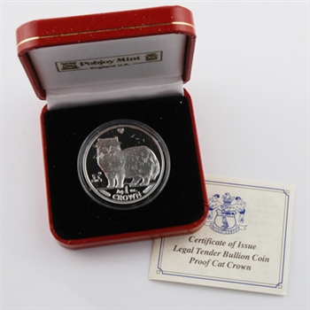 1989 Isle of Man Persian Cat - Silver Proof