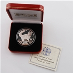1991 Isle of Man Norweigian Forest Cat - Silver Proof