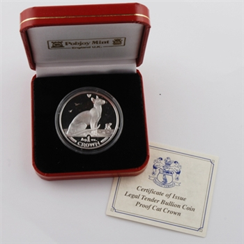 1992 Isle of Man Siamese Cat - Silver Proof