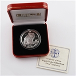 1995 Isle of Man Turkish Cat - Silver Proof