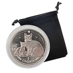 2008 Isle of Man Burmilla Cat - Clad Proof