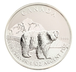 2011 Canadian $5 Silver Grizzly - Uncirculated