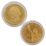 2007 George Washington Presidential Dollar - Proof - San Francisco