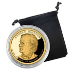 2011 Andrew Johnson Presidential Dollar - San Francisco - Proof in Capsule