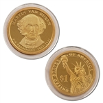 2008 Martin Van Buren Presidential Dollar - Proof - San Francisco