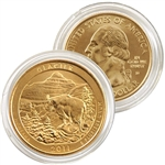 2011 Glacier 24 karat Gold Quarter - Denver Mint