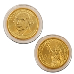 2007 George Washington Presidential Dollar - Gold - Philadelphia