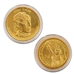 2009 John Tyler Presidential Dollar - Gold - Denver